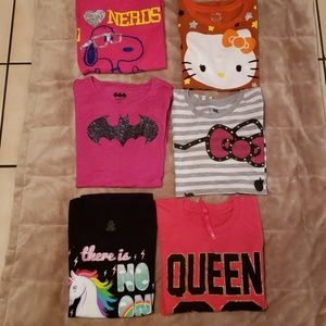 Other - Lot of (6) Size 14-16 Girl's Tee Shirts